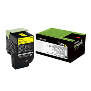 利盟(Lexmark)70C80Y0黄色粉盒 (适用CS/310/410/510dn机型) 约1000页