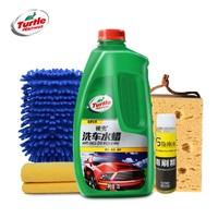 龟牌汽车洗车液水蜡泡沫清洁清洗剂强力去污上光蜡水专用大桶套装