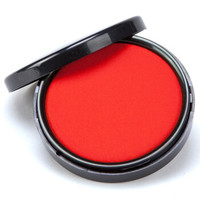 齐心(Comix)直径85mm中号红色圆形速干印台/印泥 办公文具 B3747 *3件
