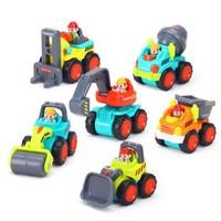 汇乐玩具(HUILE TOYS)305A 口袋工程车 惯性车玩具模型汽车 *5件