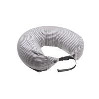 网易严选 升级款 日式多功能颈枕 双扣款_灰白条纹