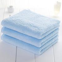 UCHINO内野全棉吸水面巾纯棉成人男士女士儿童洗脸毛巾 蓝色