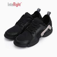 INTERIGHT 休闲鞋 牛皮低帮系带舒适女鞋跳舞鞋 黑色 37
