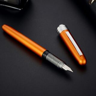 白金(Platinum)富士山盒绘套装彩色铝合金钢笔/墨水笔0.3MM铱金笔尖 橘色PGB-1000
