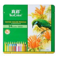 TRUECOLOR 真彩 4576 六角水溶性彩色铅笔 24色