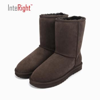 InteRight 5825 女士中筒雪地靴 咖啡色 38