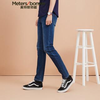 Meters bonwe 美特斯邦威 602050 男士牛仔裤 中蓝 175/82A