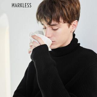 Markless MSA7722M 男士高领针织毛衣 黑色 XXL