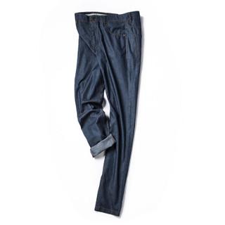 Markless NZA6007M 男士亚麻长牛仔裤 牛仔蓝 35
