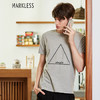 Markless TXA7662M 男士圆领短袖T恤 灰色 XXXL