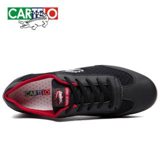 CARTELO KDLK20 男士网面运动鞋 黑色 40