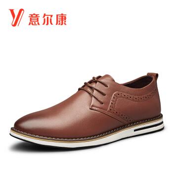 YEARCON 意尔康 7502ZE93521W 男士圆头英伦皮鞋