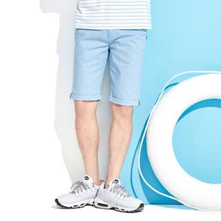 Semir 森马 13216261221 男士休闲中裤 蓝白色调 35