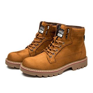 Semir 森马 BM716576 男士加绒马丁靴 棕色 39