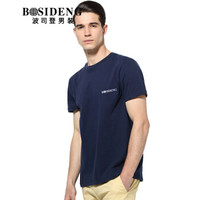 BOSIDENG 波司登 3272B23331 男士圆领短袖T恤 深蓝 180