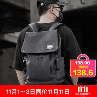 teemzone 廷尊双肩包男时尚休闲防水背包大容量电脑包学生书包潮 T8029黑色