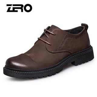 ZERO H73151 男士大头皮鞋 暗棕 38
