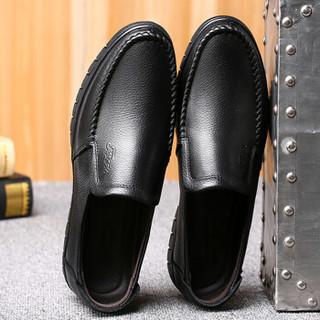 EGCHI 宜驰 36274 男士套脚加绒皮鞋