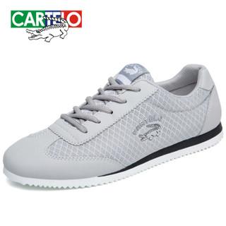 CARTELO KDLK20 男士网面运动鞋 灰色 42