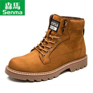 Semir 森马 BM716576 男士加绒马丁靴 棕色 42