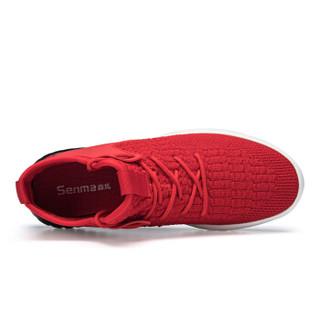 Semir 森马 117319615 男士飞织跑步鞋 红色 40