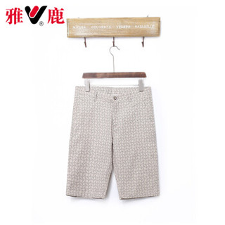 雅鹿 18651010 男士薄款休闲短裤