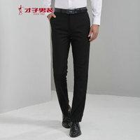 TRiES 才子 5075E0920 男士直筒西裤 黑色 76(165/74A)/30
