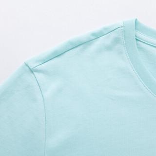 Semir 森马 19037001210 男士字母印花T恤 粉绿 M