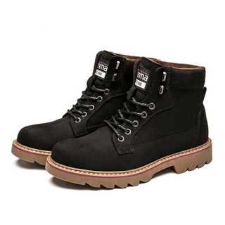 Semir 森马 BM716576 男士加绒马丁靴 黑色 41