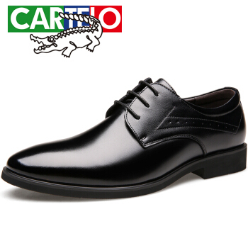 CARTELO 1013 男士休闲皮鞋 黑色 41