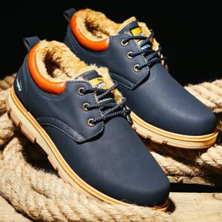 CARTELO KDLG089 男士加绒系带工装鞋