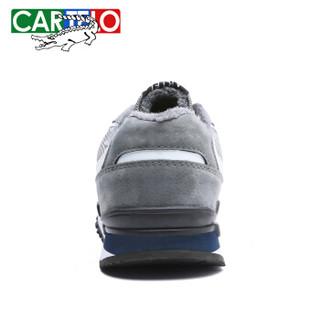 CARTELO KDLK31 男士加绒跑步鞋 灰色 40