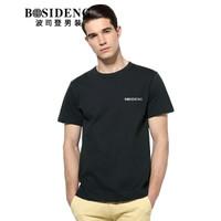 BOSIDENG 波司登 3272B23331 男士圆领短袖T恤 黑色 170