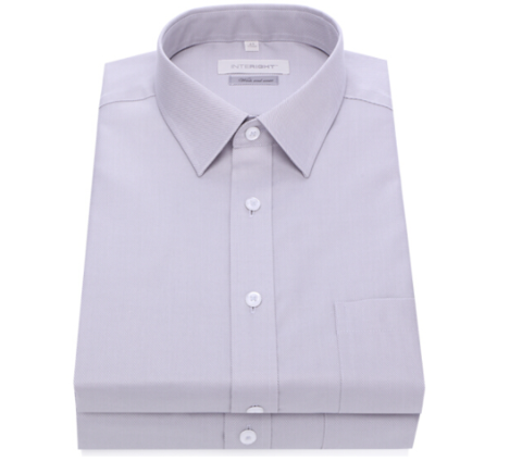 京东PLUS会员:InteRight INTERIGHT 100支棉 男士长袖衬衫