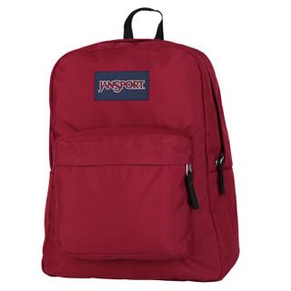 JANSPORT杰斯伯叛逆系列休闲运动包双肩包背包书包T5019FL酒红色