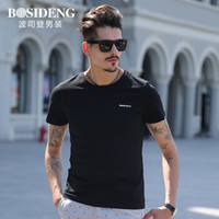 BOSIDENG 波司登 3272B23331 男士圆领短袖T恤 黑色 190