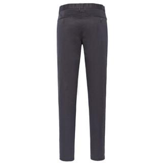 Semir 森马 13316271201 男士纯色修身休闲长裤 黑色 33