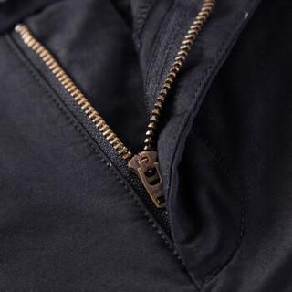 Semir 森马 13316271201 男士纯色修身休闲长裤 黑色 34