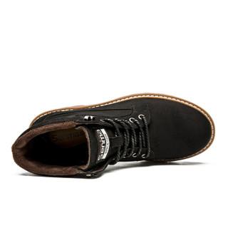 Semir 森马 BM716576 男士加绒马丁靴 黑色 38