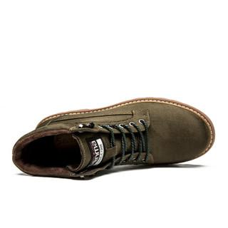 Semir 森马 BM716576 男士加绒马丁靴 军绿色 39
