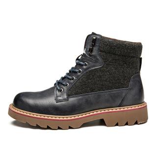 Semir 森马 BM716577 男士加绒马丁靴