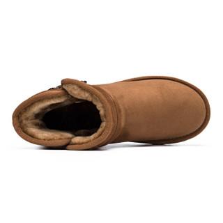 Semir 森马 727420813 女士加绒雪地靴