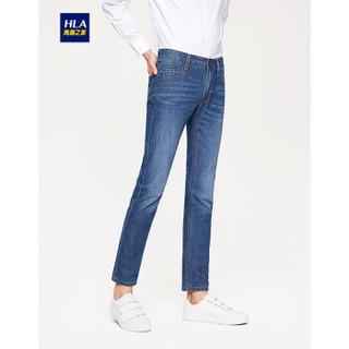 HLA 海澜之家 HKNAD1E073A 男士中腰牛仔裤 牛仔蓝 175/82A