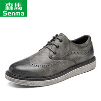 Semir 森马 817319611 男士布洛克英伦皮鞋