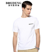 BOSIDENG 波司登 3272B23331 男士圆领短袖T恤 白色 175