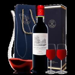 法国原瓶进口 DBR拉菲红酒 杜哈磨坊波亚克 干