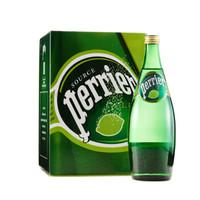 Perrier 巴黎水 含气矿泉水 青柠味 750ml*4瓶
