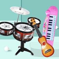 值友专享:The North e home 北国e家 玩具乐器组合 架子鼓+吉他+电子琴颜色随机
