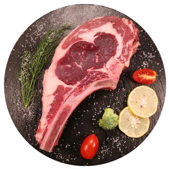 恒都 国产战斧原切牛排 600g/袋 2片 谷饲牛肉