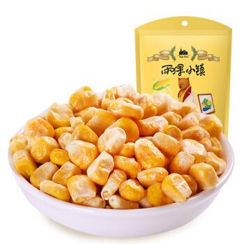 雨果小镇 孕妇儿童零食 粒粒酥脆 冻干甜玉米粒35g/袋 *7件